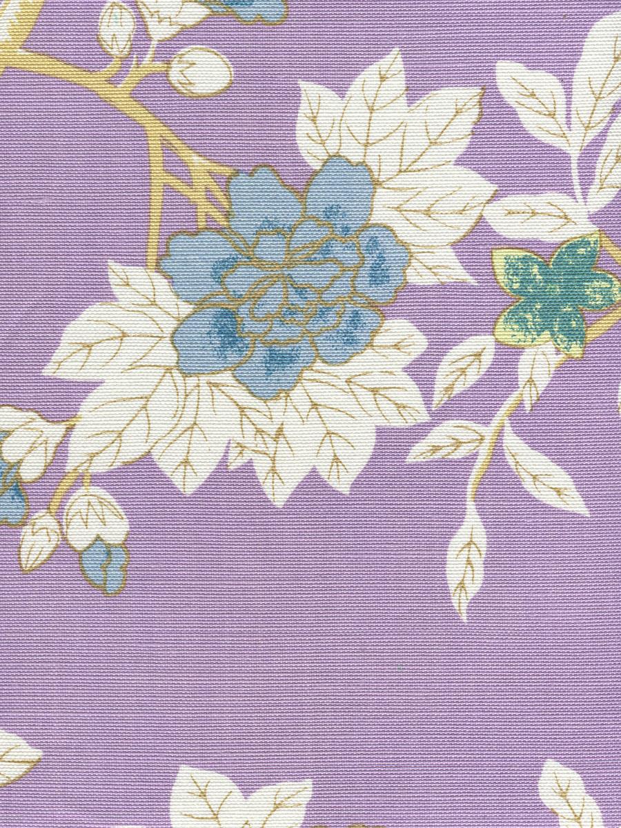 Happy Garden Lavender on White 306064F