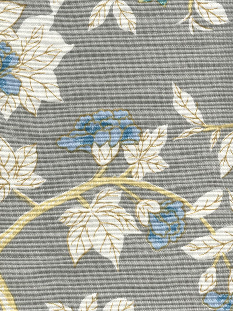 Happy Garden Grey on White 306065F