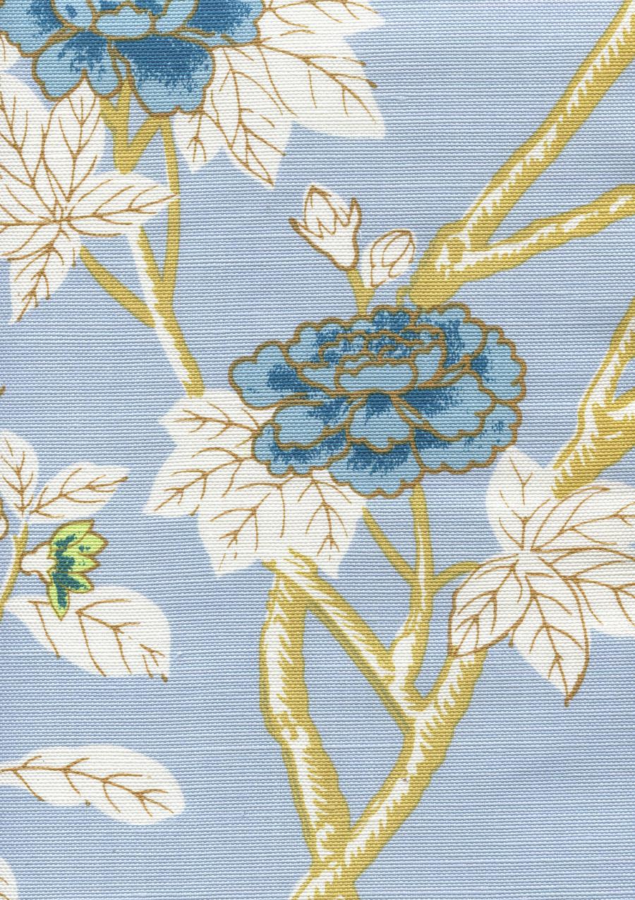 Happy Garden Windsor Blue on White 306061F