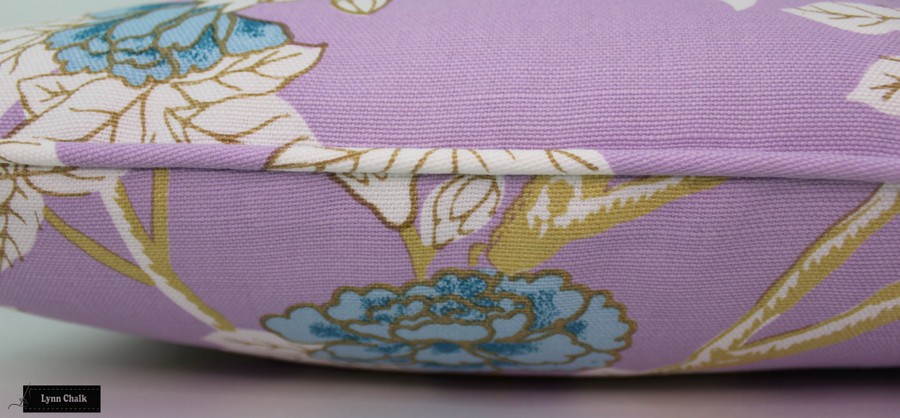 Quadrille Happy Garden Custom Scallop Valance (Shown in Lavender on White 306064F-comes in other colors)