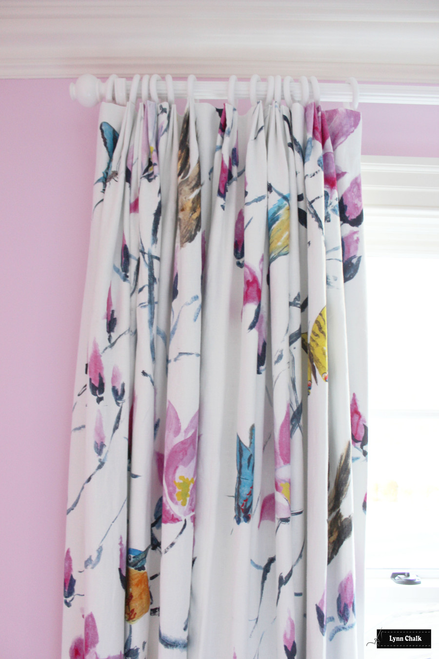 Designers Guild Madame Butterfly Peony F1903 01 Custom Drapes