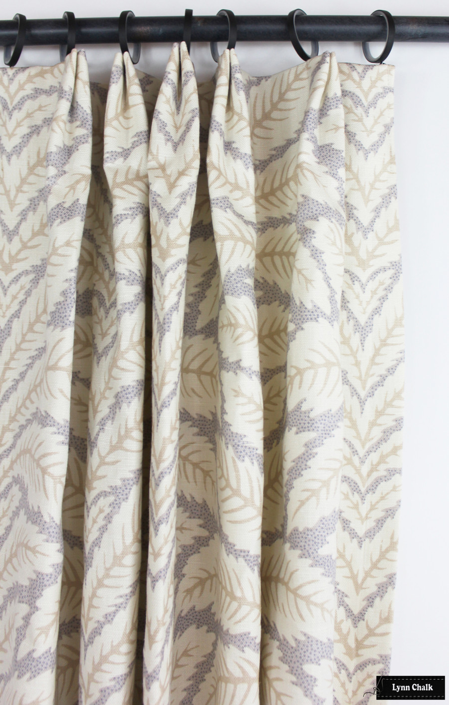 Brunschwig & Fils Talavera Linen in Birch Custom Drapes