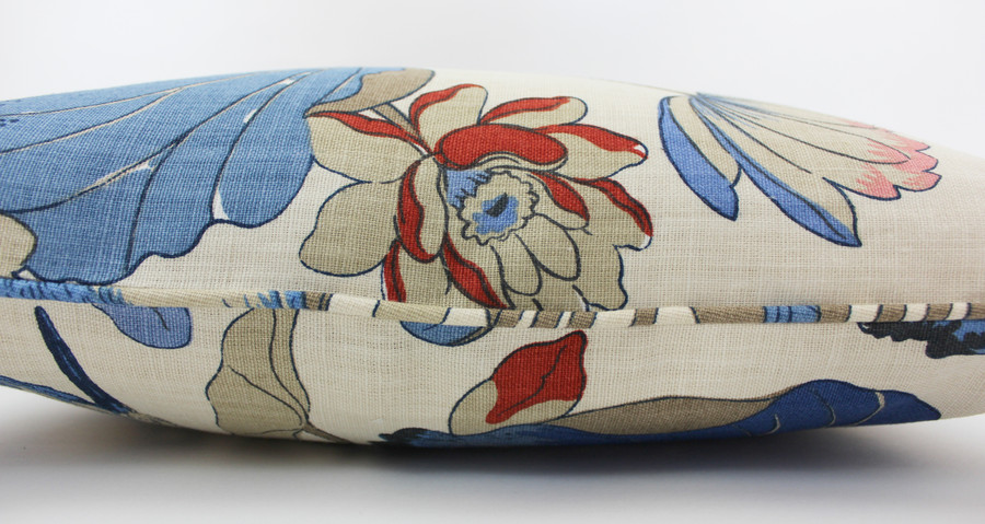 ON SALE 50% Off -  Lee Jofa/GP & J Baker Nympheus 18 X 18 Pillow in Indigo/Marine with welting (Both Sides) Made To Order