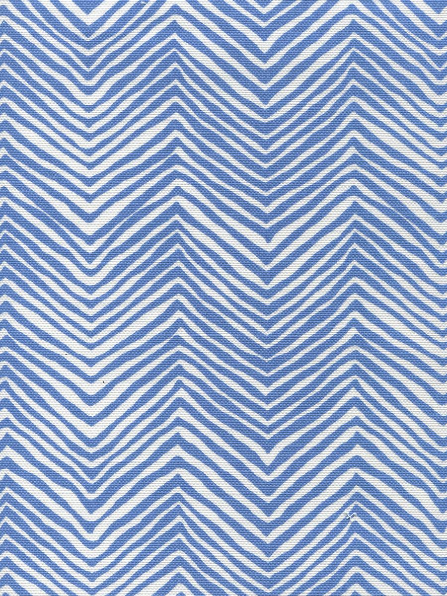 Petite Zig Zag French Blue on White AC303-15W
