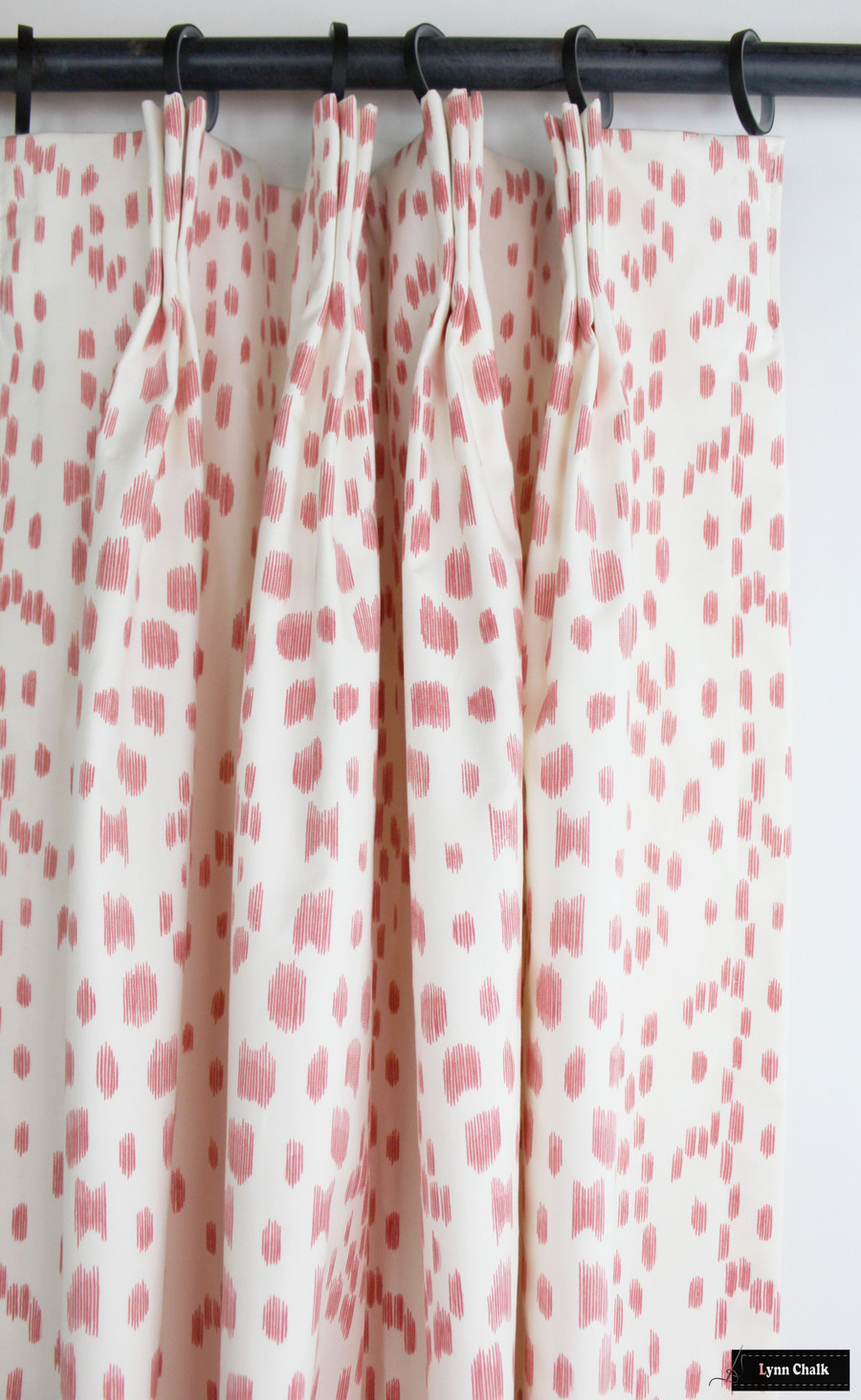 Custom Drapes in Les Touches in Petal (Soft Pink)