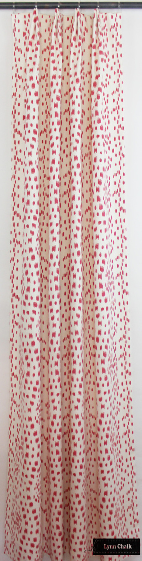 Custom Drapes in Les Touches in Pink