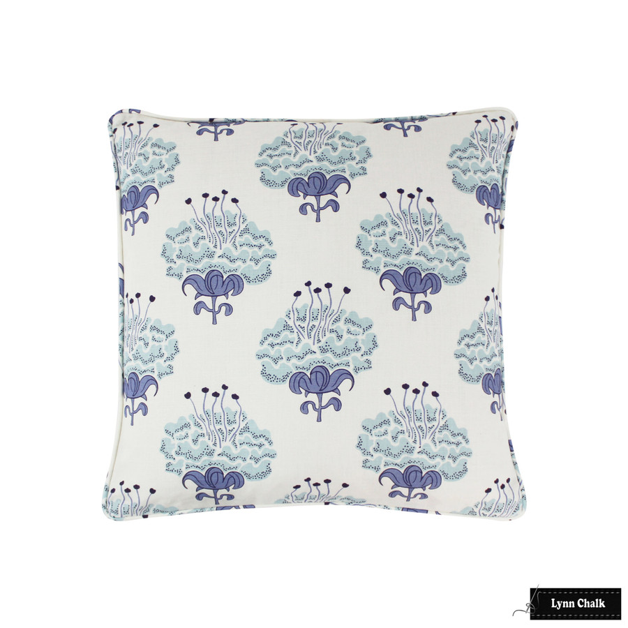 Katie Ridder Peony Fabric in Bluebell - Priced Per Yard - 3 Yard Minimum Order 5-8 Week Lead time - Contact me to order