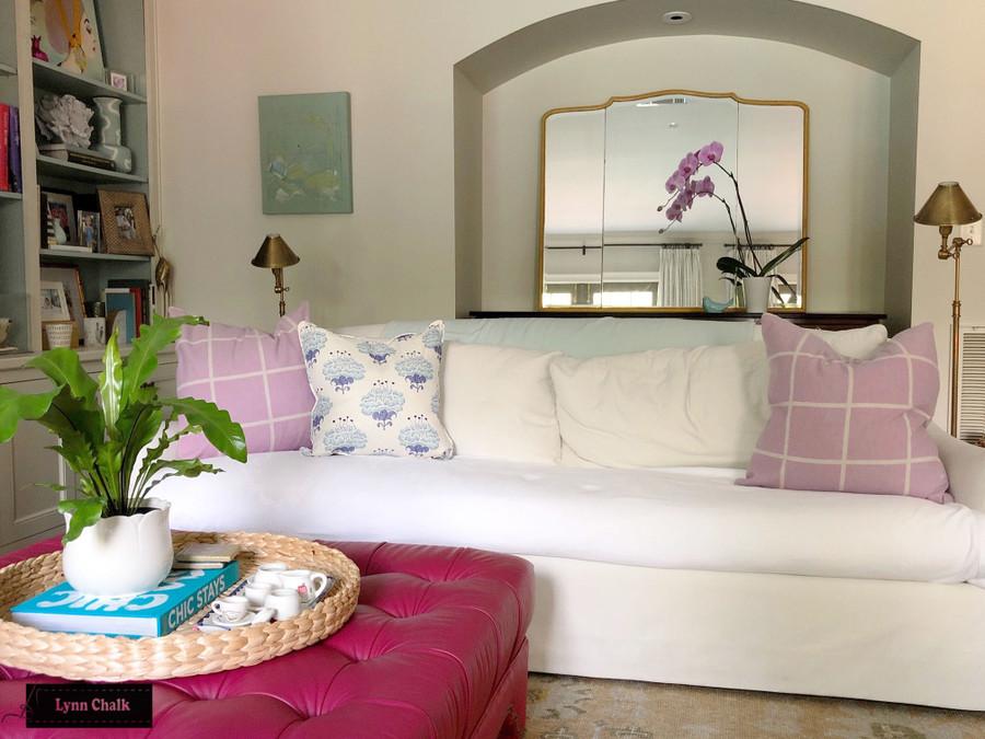 Katie Ridder Peony Fabric in Hydrangea - Priced per Yard - 3 Yard Minimum Order 5-8 Week Lead time - Contact me to order