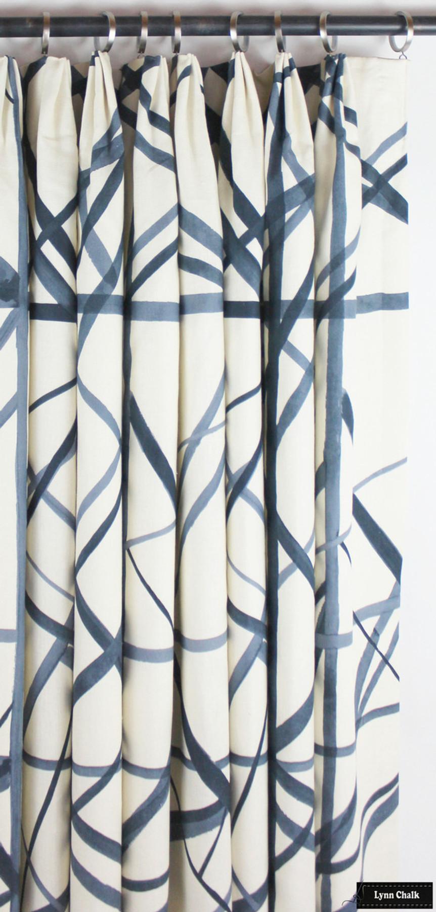 Kelly Wearstler for Lee Jofa Channels Fabric Periwinkle/Oat GWF-3101-516 - 2 Yard Minimum Order