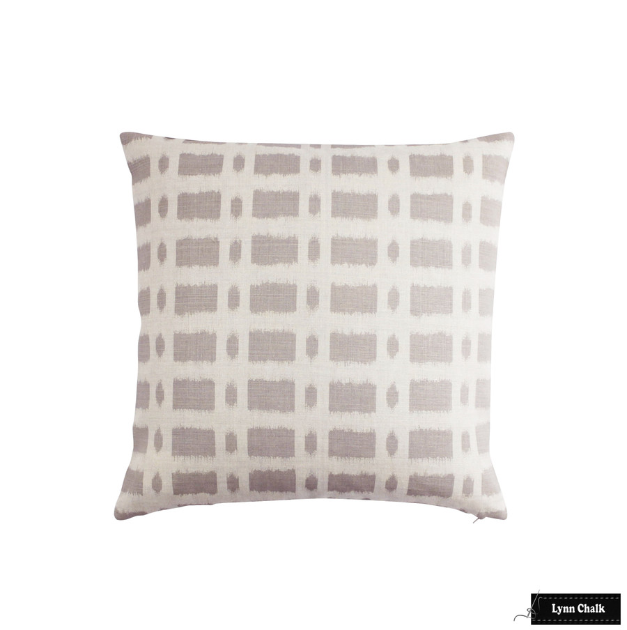 ON SALE - Schumacher Townline Road Lilac Knife Edge Pillow Cover (20 X 20 Both Sides) Made To Order