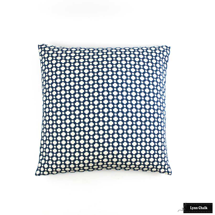 ON SALE - Schumacher Betwixt Knife Edge 16 X 16 Pillow Cover in Peacock (Both Sides-Made To Order)