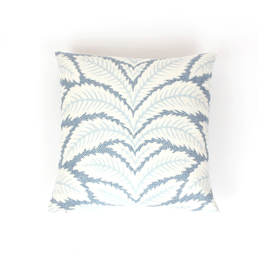 ON SALE - Brunschwig & Fils Talavera Blue BR-79204.222 Knife Edge Pillow Cover (22 X 22 - Both Sides) Made To Order