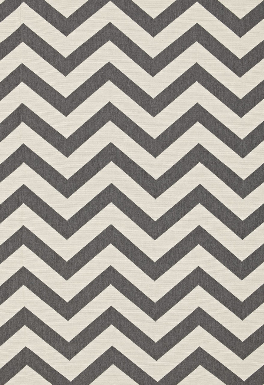 Pillow Schumacher Antibes Chevron Oxford Grey