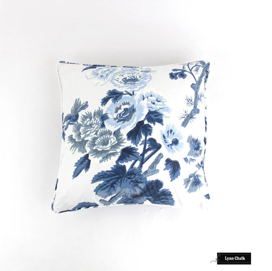 Schumacher Pyne Hollyhock Print Charcoal Fabric 174450