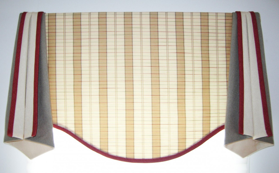 This Valance can be styled for a Single, Double or Triple Window.