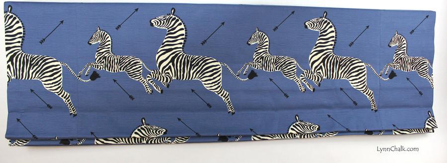 Scalamandre Zebras Fabric in Denim - 2 Yard Minimum Order