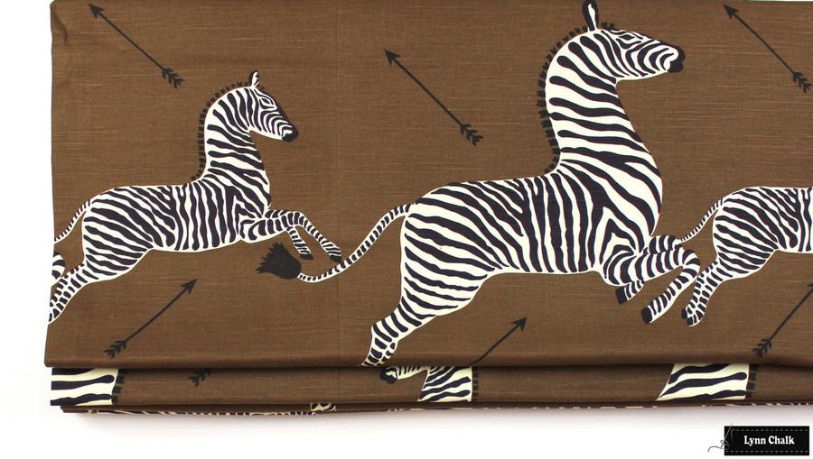 Double Wide Roman Shade in Scalamandre Zebras Safari Brown
