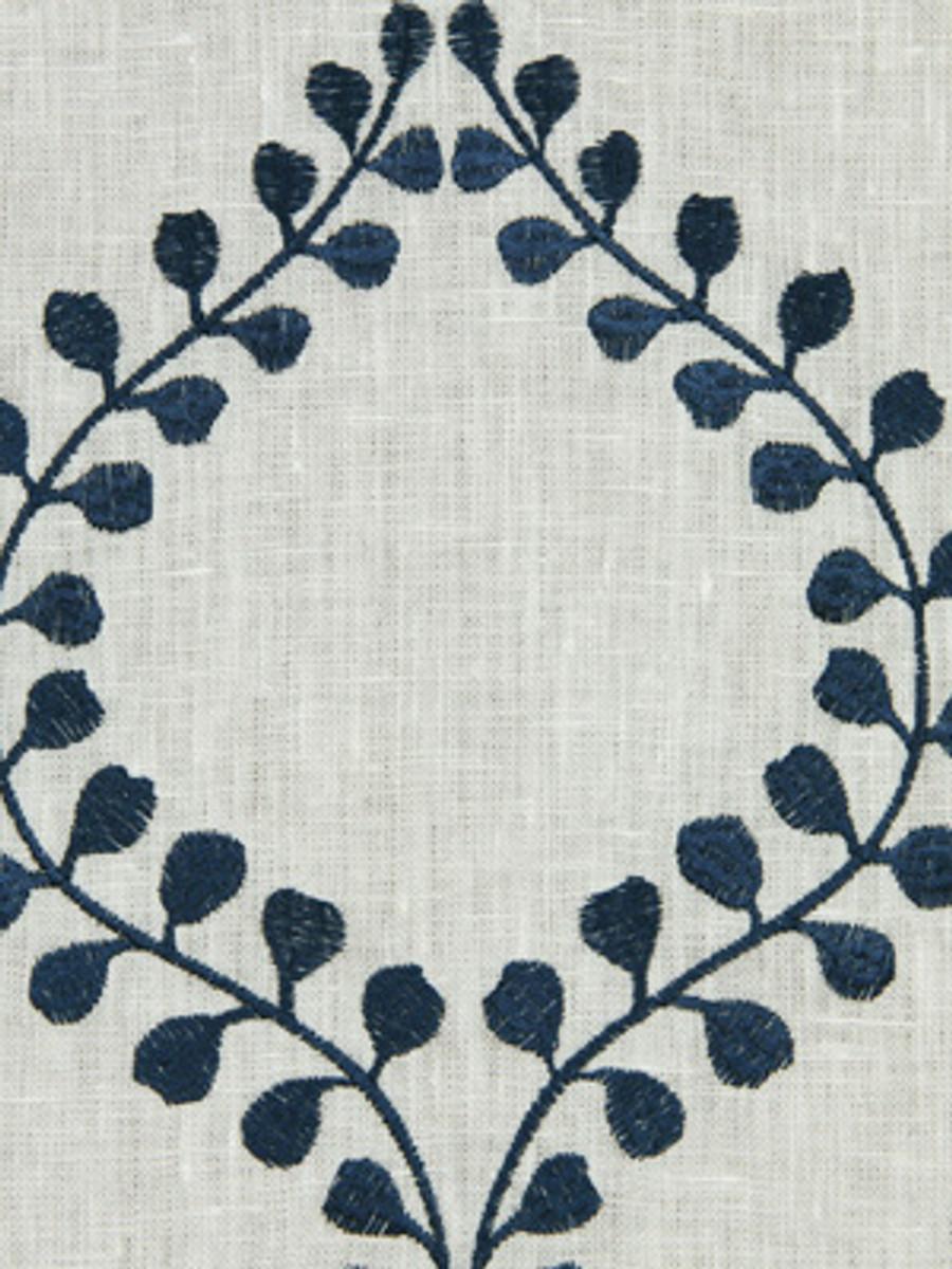 Winding Leaves in Cobalt
