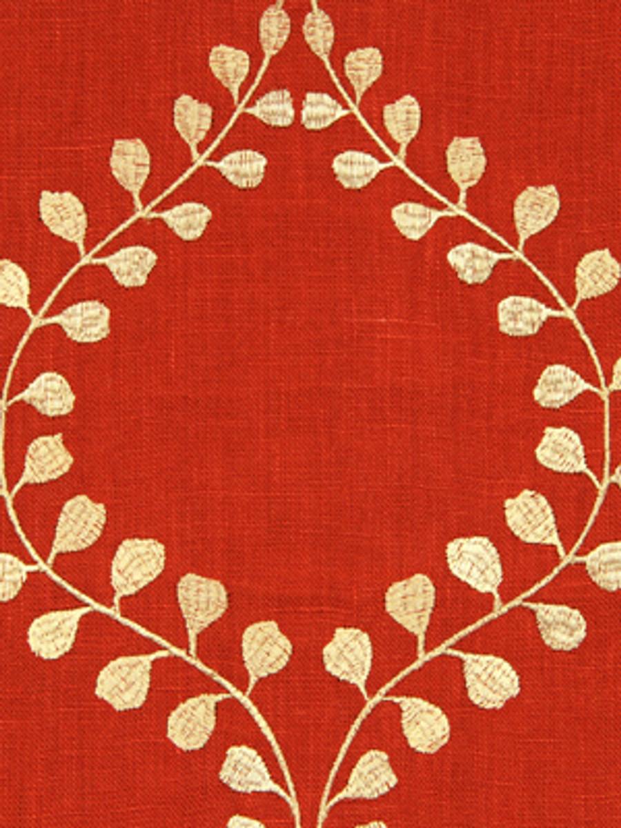 Robert Allen Winding Leaves -Raspberry