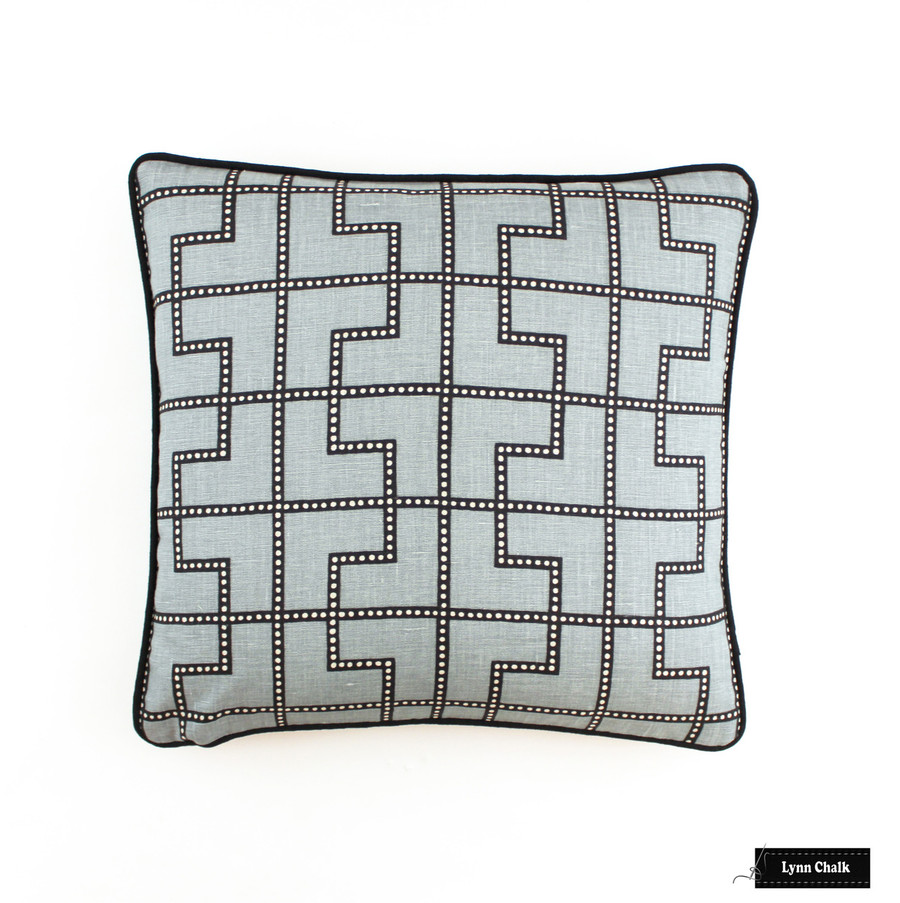 Bleecker in Twilight Pillow with black welting