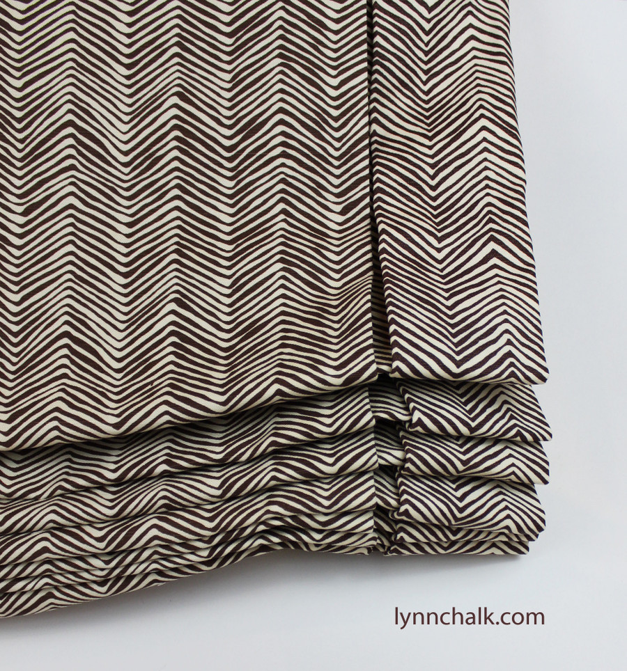 Quadrille Alan Campbell Petite Zig Zag Custom Drapes (shown in Navy -comes in 14 colors)
