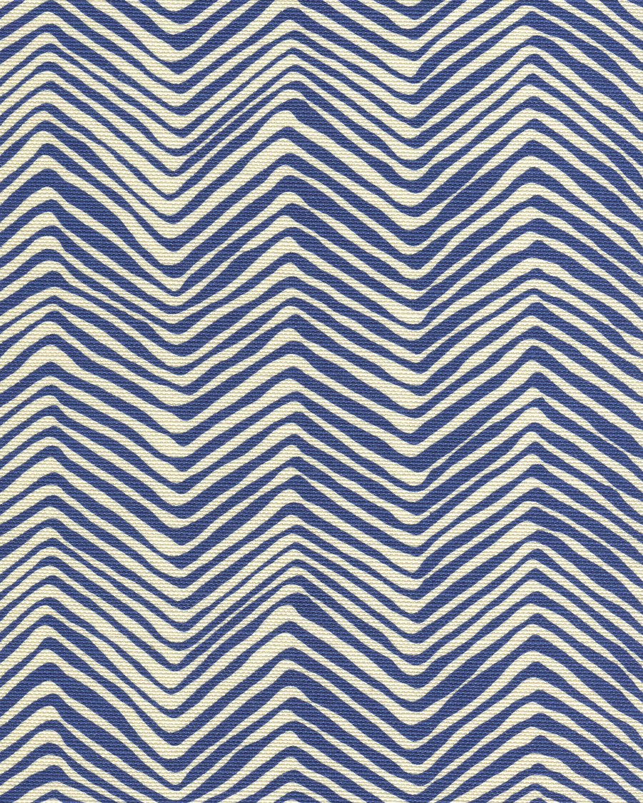 Quadrille Alan Campbell Petite Zig Zag New Navy On Tint