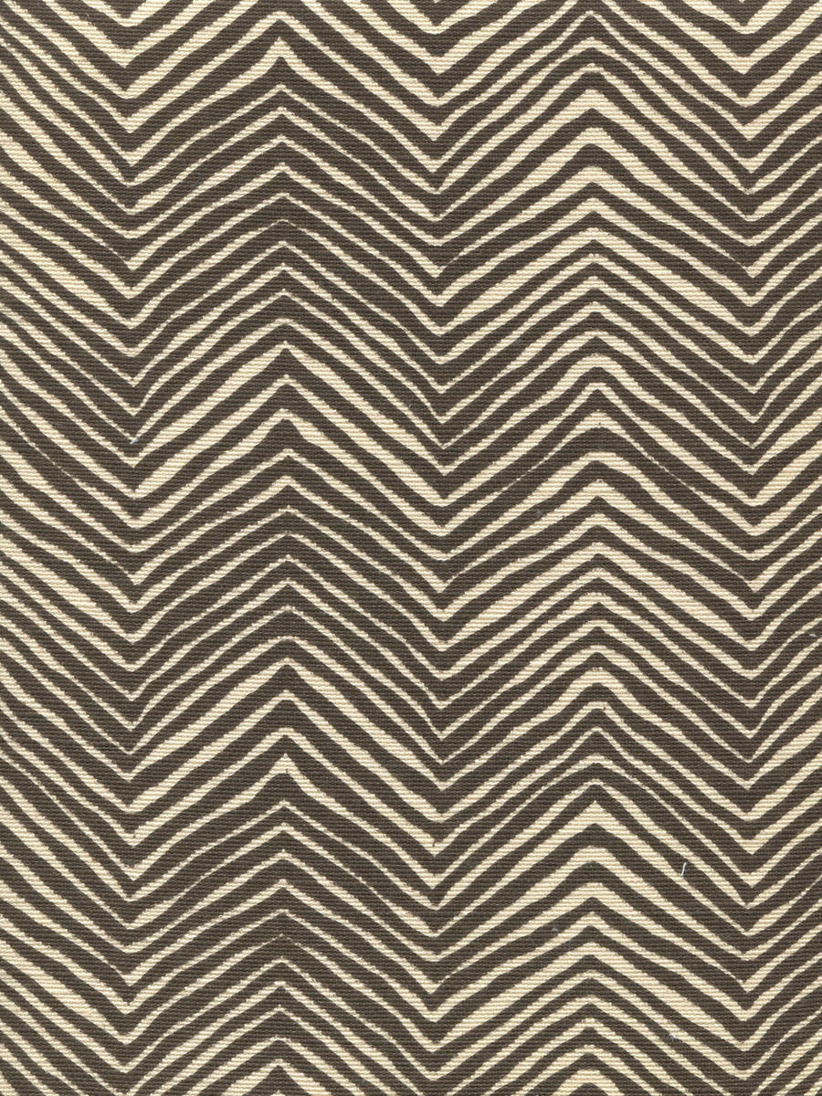 Quadrille Alan Campbell Petite Zig Zag Brown On Tint
