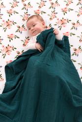 muslin quilt tui green