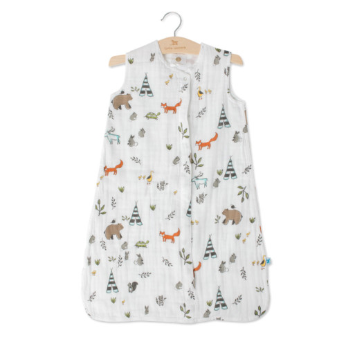 Cotton Muslin Sleeping Bag - Forest Friends  XL 18-24mth