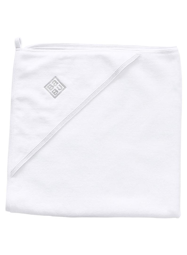 organic terry baby hooded towel grey