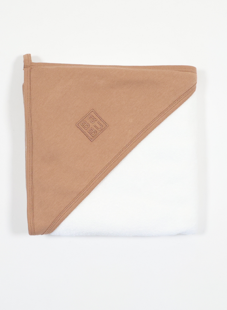 Terry Hooded Baby Towel Toffee