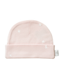 organic baby hat shell pink star