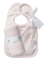 Bib set (2) reversible with swaddling wrap in shell star