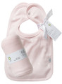 Bib set (2) reversible with swaddling wrap in shell