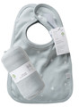 Bib set (2) reversible with swaddling wrap in coastal