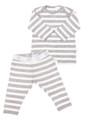 Merino PJ's Grey Stripe