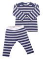 Merino PJ's Navy Stripe