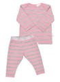 Merino PJ's Pink Stripe