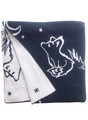 Fox blanket navy/white