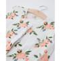 Cotton Muslin Sleeping Bag - Watercolour Roses  Small 0-6mth