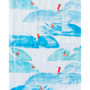 Single Cotton Muslin Swaddle - Surf