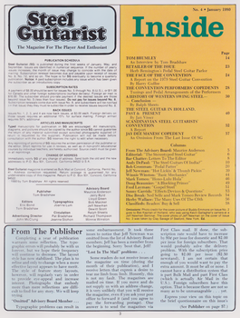 Steel Guitarist Magazine #4 - Jan 1980