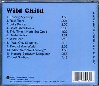 Elizabeth West CD Wild Child
