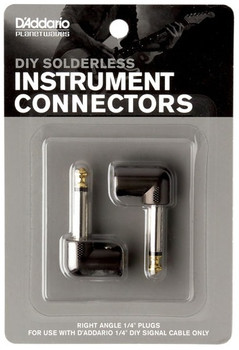 "D'Addario DIY 1/4"" Right Angle Plugs (2)"