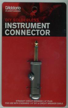 """D'Addario DIY 1/4"""" Circuit Breaker Plug"""