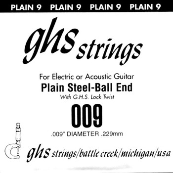 GHS .009 plain steel, paper wrapper