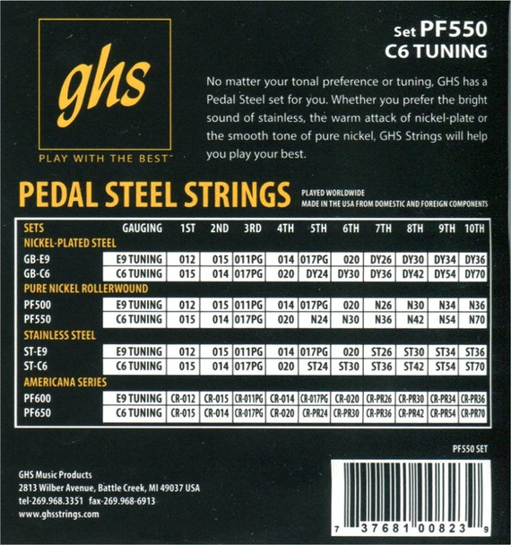 GHS C6th Pure Nickel Rollerwound
