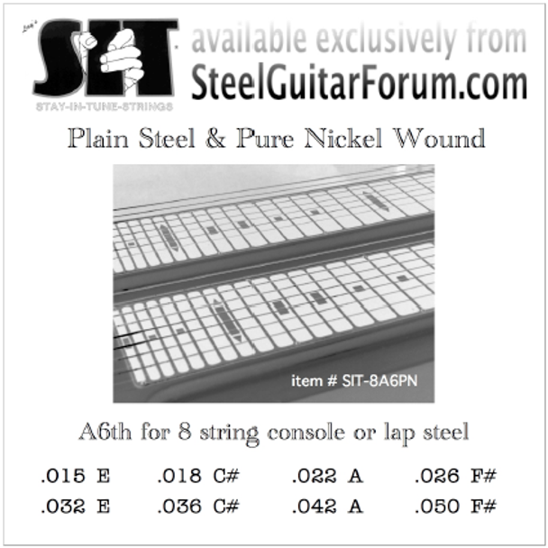SIT® A6th or C6th, pure nickel wound