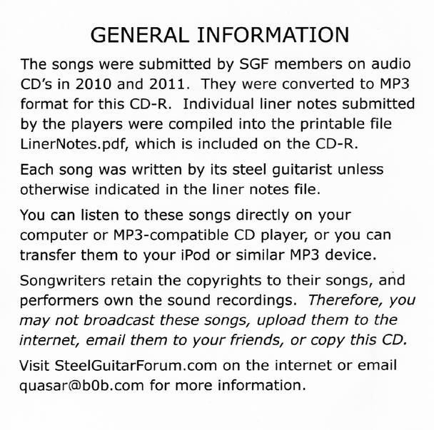SGF Members Showcase MP3 CD