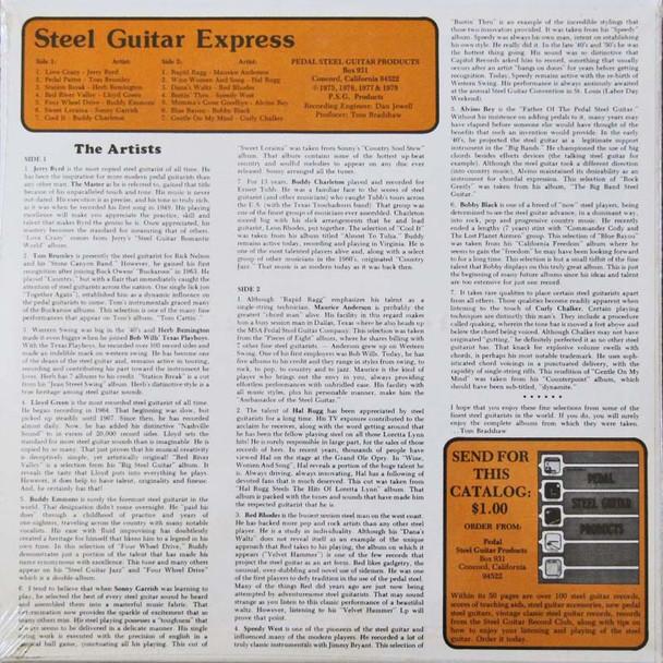 Various Artists LP Steel Guitar Express